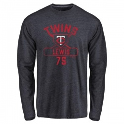 Men's Royce Lewis Minnesota Twins Base Runner Tri-Blend Long Sleeve T-Shirt - Navy