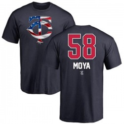 Youth Gabriel Moya Minnesota Twins Name and Number Banner Wave T-Shirt - Navy