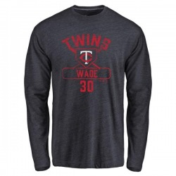 Youth LaMonte Wade Minnesota Twins Base Runner Tri-Blend Long Sleeve T-Shirt - Navy